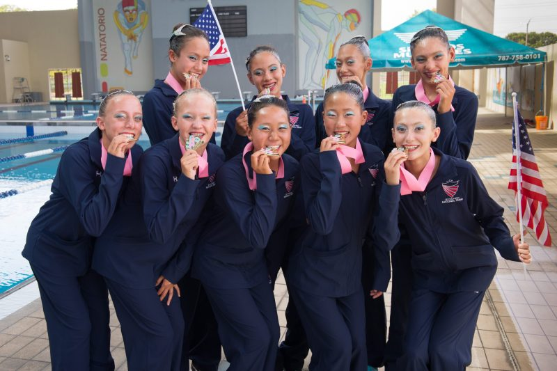 Kudos: Upper School Synchronized Swimmer Helps Team USA Take Gold in Puerto Rico