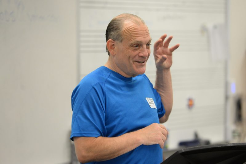 Stage veteran David Bryant visits upper school, holds master class and career workshop