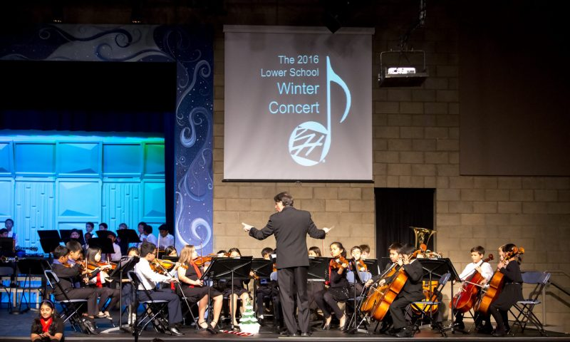 Lower school musicians delight evening audience at annual winter concert