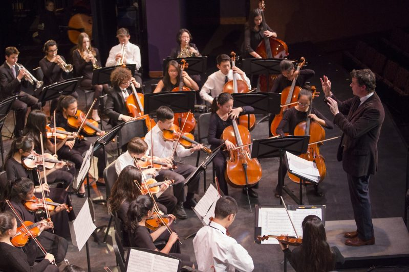 Upper and middle school musicians entertain evening crowd at Winter Concert