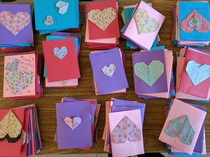 Grade 6 students learn about different cultures, make Valentine's Day cards for Meals on Wheels