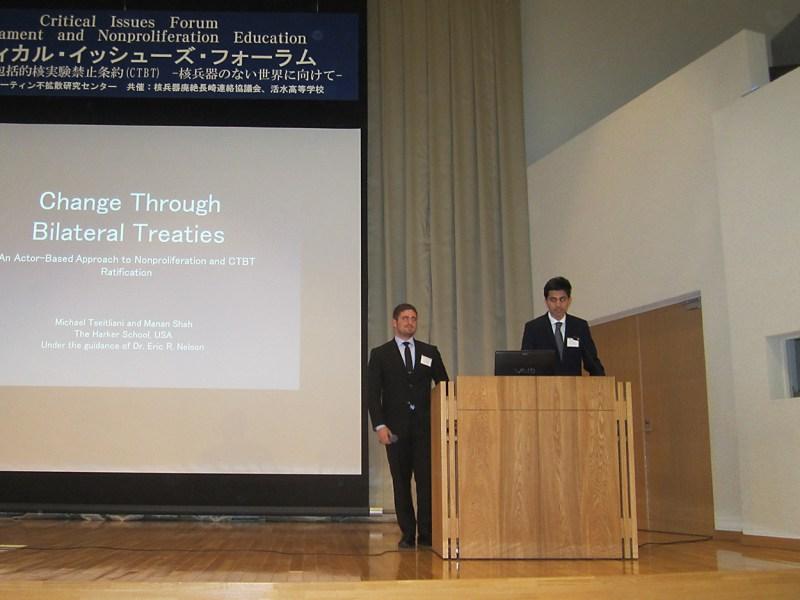 Students visit Nagasaki to give presentation on nuclear nonproliferation