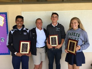 Middle school athletes of the year
