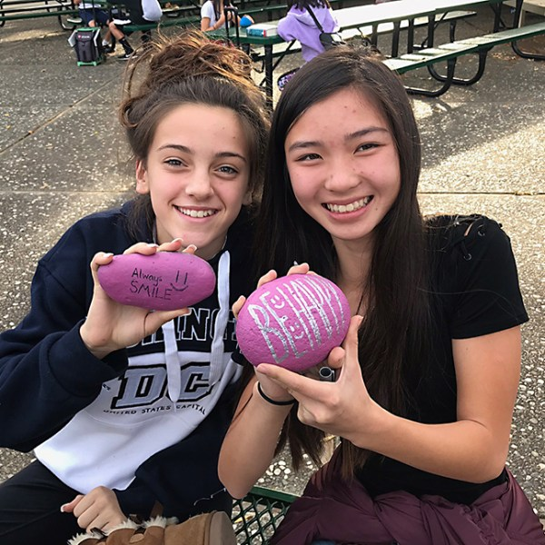 Students create 'kindness rocks' to spread positive messages