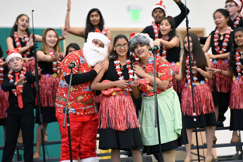 Harker performers get audiences amped at holiday assemblies