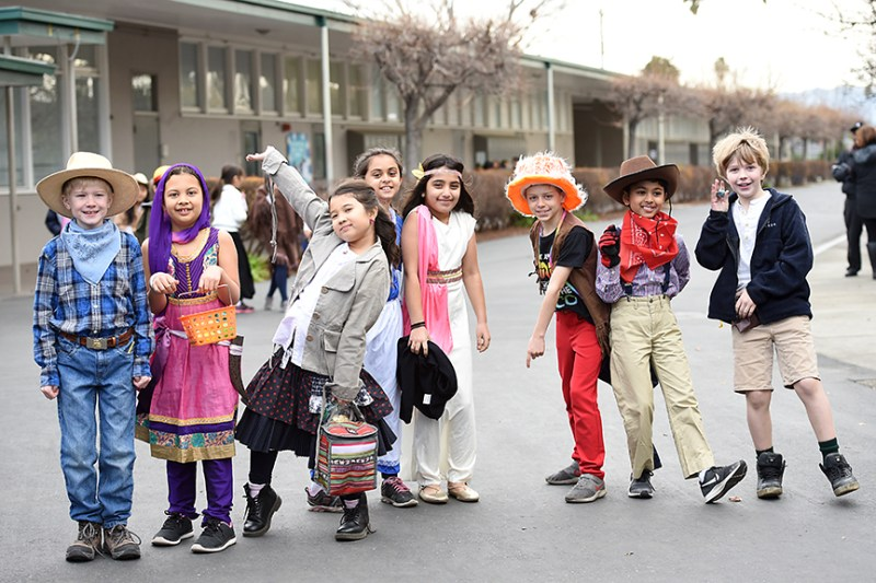 Grade 3 students explore history via costume during Dress for History Day