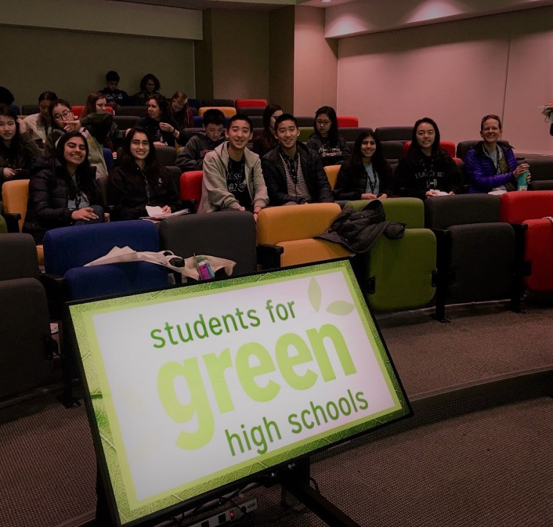 Harker Green Team attends and gives presentation at green high schools conference