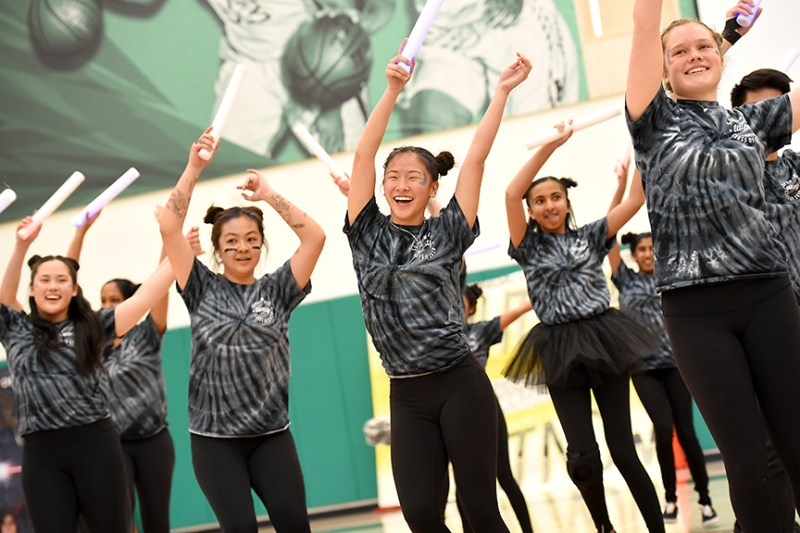 First upper school spirit rally at Athletic Center brings excitement and surprises