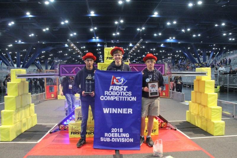 Upper school robotics team has history-making run at FIRST Championship