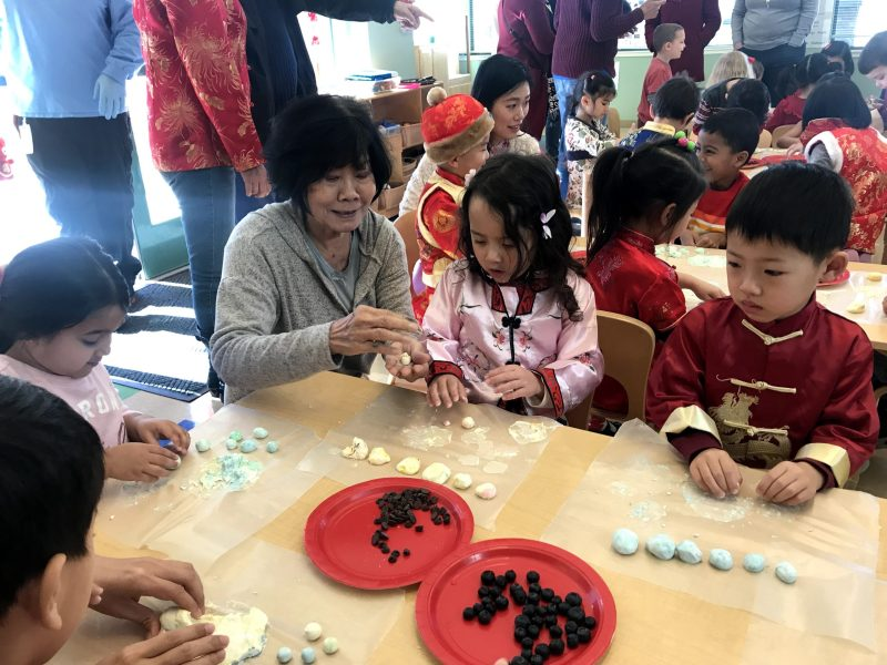 Preschoolers celebrate Lunar New Year with puppet show and food