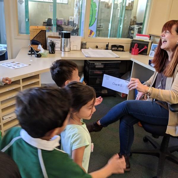 Preschool class goes on scavenger hunt, finds caring teachers