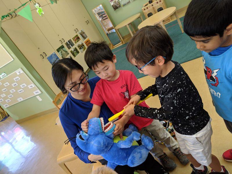 Harker preschoolers learn the facts about dental hygiene