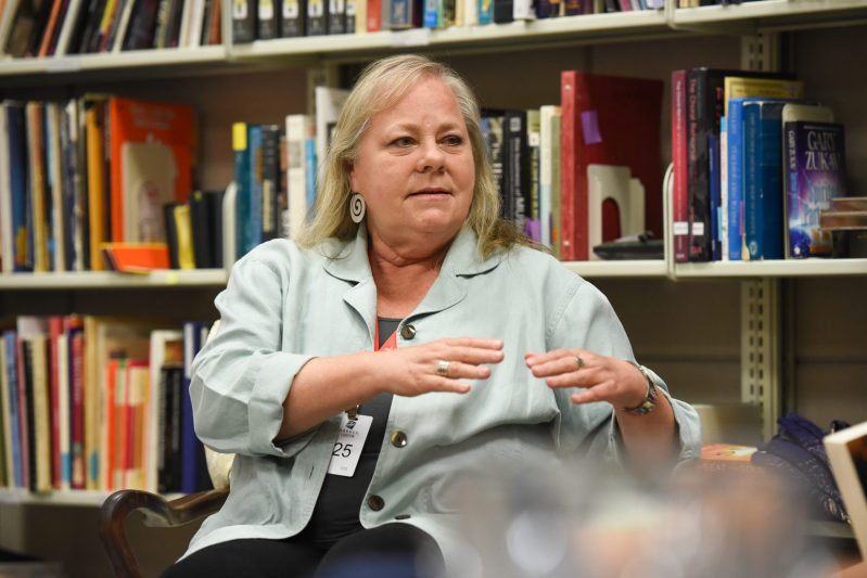 Visiting author discusses 30-year ordeal with stalker, speaks to science classes about environmental career