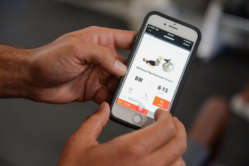Fitness app helps athletes with workouts