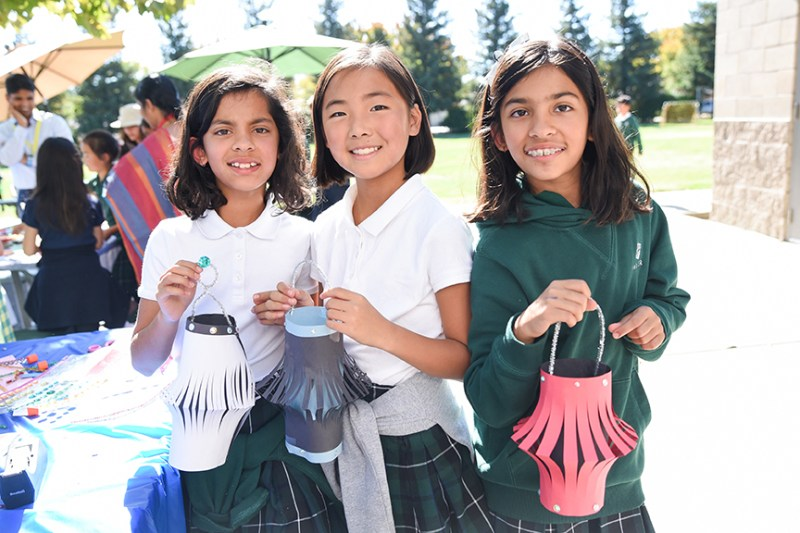 Grade 4 students create lanterns for annual Diwali celebration