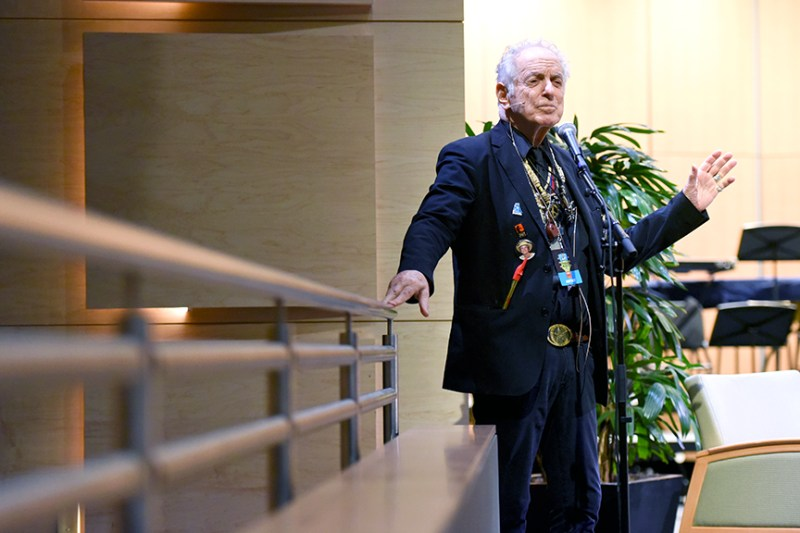 Legendary composer David Amram shares life and music at Harker Speaker Series