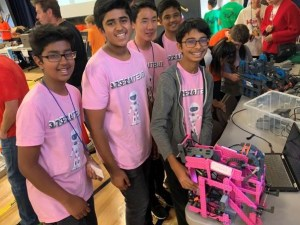 Middle school robotics team wins highest honor at local competition