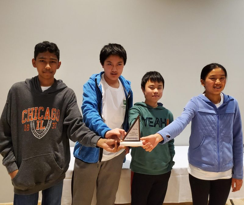 Middle school teams and individuals earn high placings at MathCounts competition