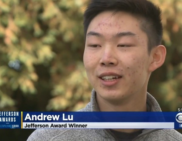 Senior Andrew Lu discusses student-founded non-profit with CBS Bay Area