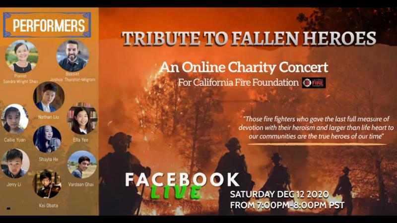 Student-organized benefit concert to honor CA firefighters