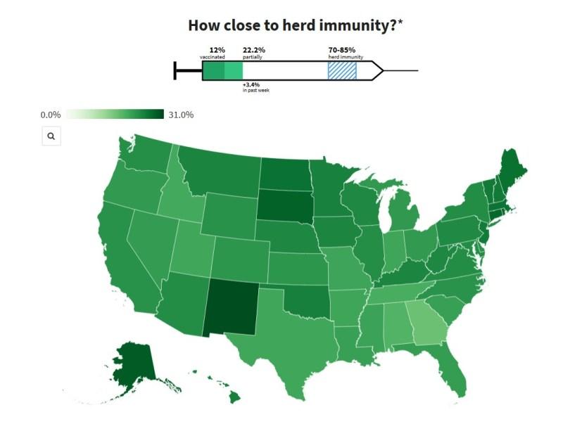 Student-created website tracks vaccination progress