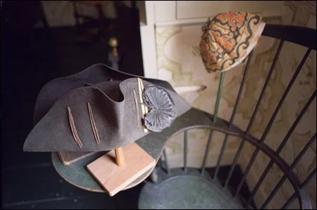 Gen. Ward's hat, vest, and slippers