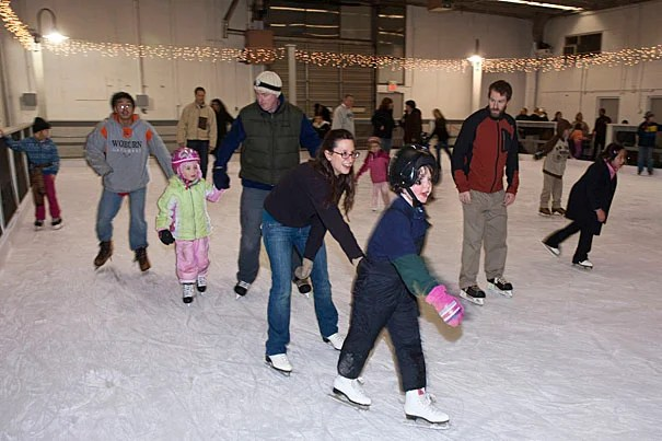 Allston residents flocked to the Harvard Allston Skating Rink during its grand opening Jan. 15, with promises of making it a regular stop on the family fun circuit.