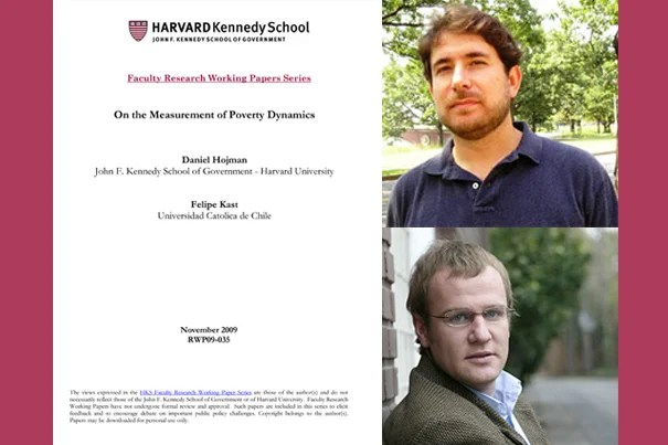 "A new Harvard Kennedy School working paper, ""On the Measurement of Poverty Dynamics,"" co-authored by Daniel A. Hojman (top) and Felipe Kast, outlines a more precise method of comparing poverty levels and changes over time, and between countries."