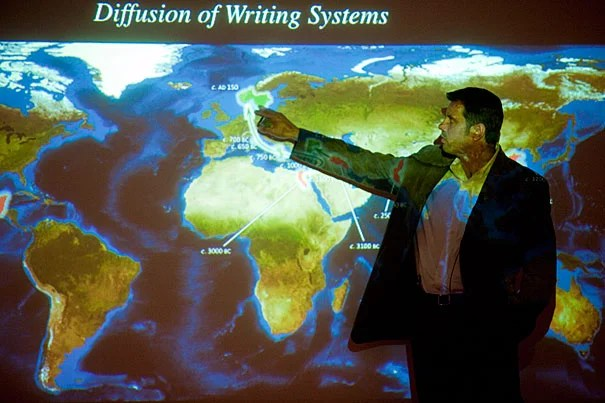 """Writing was """"independently invented several times in human history"""" and yet it was invented """"in strikingly similar ways,"""" explained linguistic anthropologist Marc Zender. Zender's talk opened """"Visible Language,"""" a semester-long lecture series sponsored by the Peabody Museum of Archaeology and Ethnology."""
