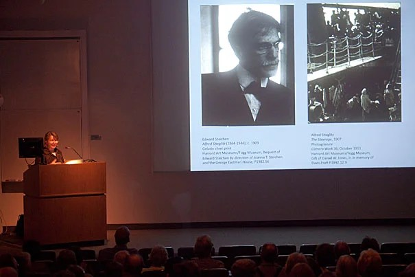 """Deborah Martin Kao spoke on Alfred Stieglitz (1864-1946) at the first event in this year's series of In-Sight Evenings at the Harvard Art Museums. Kao, Richard L. Menschel Curator of Photography, called Stieglitz """"an artist who is bigger than life."""""""