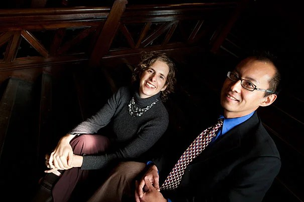 """""""Few fellowships out there recognize the importance of this time in our careers,"""" said Ingrid Katz, who, alongside Roy Ahn (right) are recipients of the Shore Fellowship, which offers stipends to junior faculty at the most vulnerable point in their academic careers."""