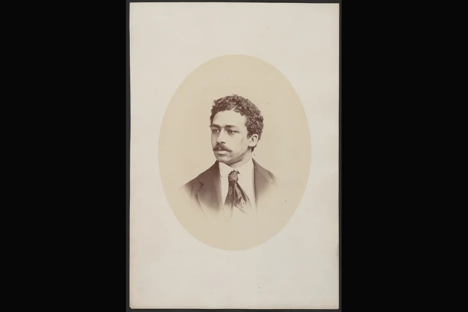 "Richard T. Greener was the first black to enter the College and to complete the undergraduate curriculum with an A.B. in 1870 (""winning the chief prizes in writing and speaking along the way""). He was not, however, the first black to be admitted, a distinction belonging to Beverly Garnett Williams, in 1847. (He died just before the academic year began and thus never entered the College.) Photo ca. 1870. Credit: Harvard University Archives, call # HUP Greener, R.T. (2a)"