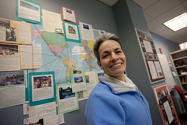 """""""My plan was to stay here for two years,"""" said Harvard employee Marina Betancur. """"But I knew, for my daughter, the future was here."""" Betancur was one of 16 employees who recently became U.S. citizens."""