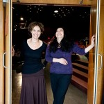 """Written by Amy Brenneman '87 (left) and co-created and directed by her longtime collaborator Sabrina Peck '84 (right), """"Mouth Wide Open"""" draws on Brenneman's personal struggle for balance and spirituality amid the pressures of celebrity and illness. """"Mouth Wide Open"""" will be onstage at the Loeb Drama Center May 24-29."""