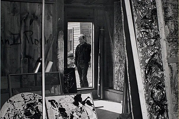 A detail from a 1950 photograph of Jackson Pollock by Harvey A. Weber. Reproduced with permission from the Harvard Art Museums/Fogg Museum Imaging Department (Gift of Melvin R. Seiden, P1992.37); © President and Fellows of Harvard College.