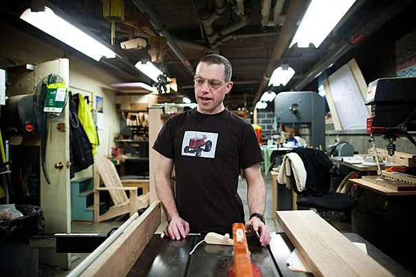 George Kenty (pictured) manages the Eliot House Woodshop where students come to create anything from doorstops to Adirondack chairs.