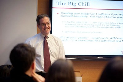 "Director of Student Services Tom Murphy presented ""Personal Money Management,"" a course offered by Harvard University Employees Credit Union over Wintersession. College officials are still analyzing student comments and evaluations, but say that the response to January's programming was positive."