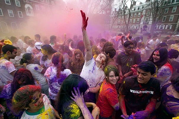 """""""Holi is primarily a celebration of the coming of spring and commemorates various aspects of Hindu mythology,"""" said Neil Patel '13, co-president of Dharma. """"The festivities usher in spring and the season of love."""""""