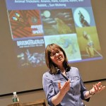 As part of the John Harvard Book Celebration, Maria Tatar, John L. Loeb Professor of Germanic Languages and Literatures and of Folklore Mythology, explored how fairy tales have migrated through centuries and across cultures into a world of movie screens, iPads, Kindles, Nooks, and increasingly short attention spans.