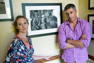 The foundation recently welcomed 24 fellows to campus for 2012-13. Among them are Finbarr O'Reilly (right), Reuters chief photographer for west and central Africa, and Laura Norton Amico (left), founder and editor of Homicide Watch, a website for data-driven coverage of violent crime in Washington, D.C.
