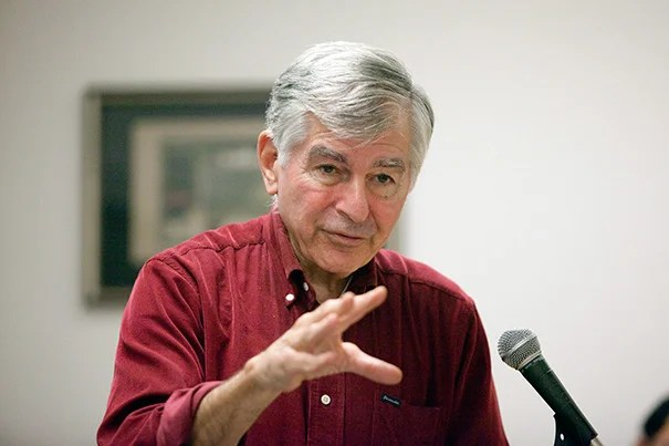 """We're in a big economic hole, and we're going to get out of it, but austerity can't get you out of a recession. I don't know why we have to learn this lesson over and over again. It just doesn't work,"" Michael Dukakis, a former three-term governor of Massachusetts, told his Harvard audience."