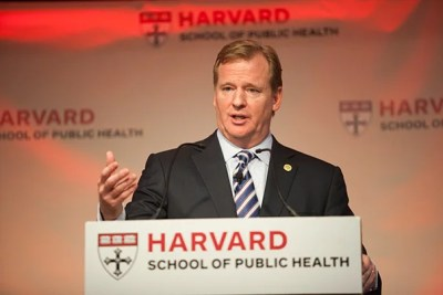 "In a talk delivered two days before the Harvard-Yale football game, NFL Commissioner Roger Goodell spoke about ongoing reforms geared toward enhancing player safety. ""Football has always evolved and it always will,"" he said."