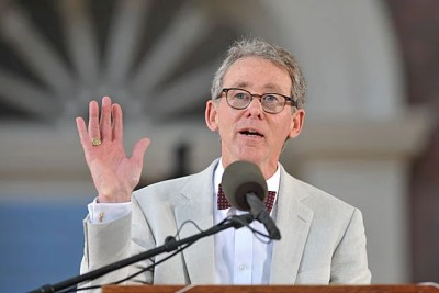 Carl Muller, the president of the Harvard Alumni Association, announced the results of the annual election. Muller '73, M.B.A. '76, J.D. '76, spoke during the Afternoon Program at Harvard's 362nd Commencement.