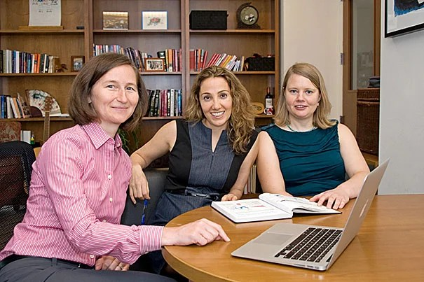 Regina LaRocque (from left), Pardis Sabeti, and Elinor Karlsson have uncovered evidence of genetic changes that might  help protect some people from contracting cholera.