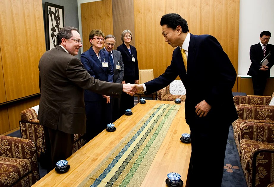 Drew Faust meets Japanese Prime Minister Hatoyama