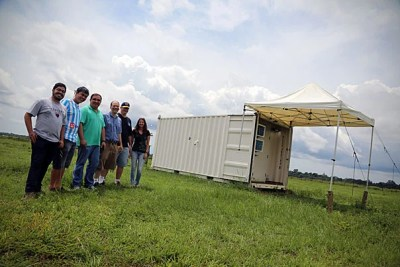"""""""It's the U.S./Brazil collaboration that really makes this possible,"""" said Scot Martin, Harvard's Gordon McKay Professor of Environmental Chemistry, discussing the GoAmazon2014 project and its many partners."""