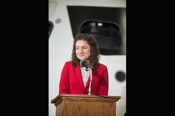 "In August, HMS Assistant Professor Jessica Meir attended a press conference at the Johnson Space Center's Space Vehicle Mock-up Facility, where she was among her fellow 2013 astronaut candidates (photo 1). Space is just one frontier for Meir, who in 2003 was in the Antarctic researching penguins' oxygen usage (photo 2). In 2009, she continued her research in Canada with a role that included being a ""goose mother"" (photo 3)."