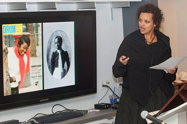"""Renée Mussai (pictured) and Mark Sealy selected 200 photographs for """"The Paris Albums 1900: W.E.B Du Bois"""" exhibition (photo 1). The images were among the 363 originally displayed by Du Bois at the Paris Exposition Universelle in 1900. """"Du Bois was mounting this exhibition to fight back visually against images of black people as animals, bestial, deracinated, ignorant,"""" said Henry Louis Gates Jr. (photo 2)."""