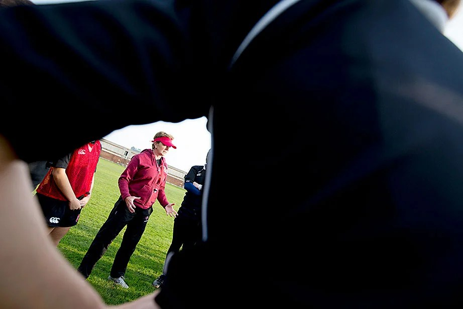 Head coach Sue Parker brought extensive experience to Harvard, including most recently serving as the coach for Navy.
