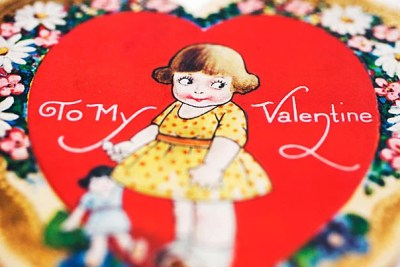 This cute valentine is one of many quirky and earnest vintage keepsakes unearthed from the Harvard University Archives and the Schlesinger Library. Stephanie Mitchell/Harvard Staff Photographer